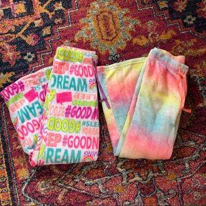Bundle of two Justice sleep pants size 14
